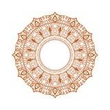 Ornamento felice di diwali del rangoli Mandala illustrata su dettagliata del cerchio per il vostro fondo Illustrazione di vettore illustrazione di stock