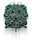 Ornamento a filigrana in verde e peltro Immagine Stock Libera da Diritti
