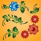 Ornamento florais ajustados Fotografia de Stock Royalty Free