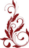 Ornamento floral Fotos de Stock Royalty Free