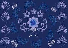 Ornamento floral abstracto Imágenes de archivo libres de regalías