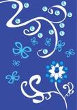 Ornamento floral abstracto Stock de ilustración