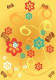 Ornamento floral abstracto Fotografía de archivo
