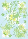 Ornamento floral abstracto Imagenes de archivo