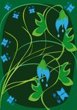 Ornamento floral abstracto Imagen de archivo libre de regalías