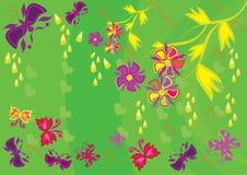 Ornamento floral abstracto Imagen de archivo
