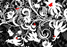 Ornamento floral abstrato Fotos de Stock Royalty Free