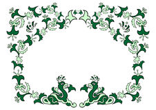 Ornamento floral abstrato Fotos de Stock