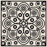 Ornamento floral abstrato Imagens de Stock