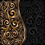 ornamento floral abstrato com ondas Imagem de Stock Royalty Free