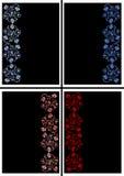 Ornamento floral abstrato em cores azuis e vermelhas Fotografia de Stock Royalty Free