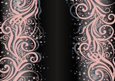 Ornamento floral abstrato no fundo escuro Imagem de Stock Royalty Free