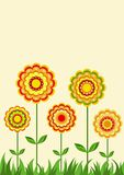Ornamento floral. Antecedentes. Foto de archivo