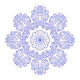 Ornamento floral azul no círculo Fotos de Stock