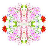 Ornamento floral circular Libre Illustration