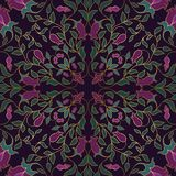Ornamento floral colorido stock de ilustración