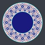 Ornamento floral colorido de Turquía Iznik ilustración del vector