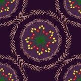 Ornamento floral com ramos em uma cor violeta ilustração royalty free