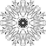 Ornamento floral da circular da mandala do esboço Fotos de Stock Royalty Free