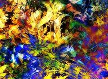 Ornamento floral de Filigrane no backgrond abstrato, colagem do computador ilustração do vetor