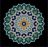 Ornamento floral de la estrella de Fes Fotos de archivo libres de regalías