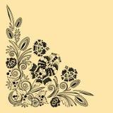 Ornamento floral de la vendimia Foto de archivo libre de regalías