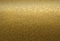 Ornamento floral de oro Fotografía de archivo libre de regalías