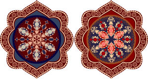 Ornamento floral decorativo en estilo del este Imagen de archivo libre de regalías