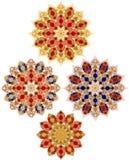 Ornamento floral decorativo en estilo del este Imágenes de archivo libres de regalías