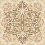 Ornamento floral decorativo en estilo del este Imagenes de archivo
