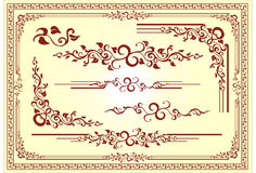 Ornamento floral del marco del vector Fotos de archivo libres de regalías