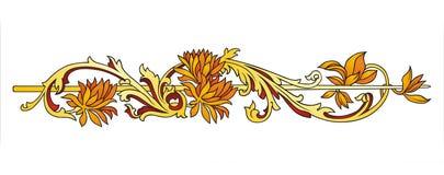Ornamento floral del oro ilustración del vector