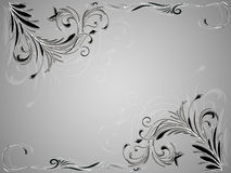 Ornamento floral del vintage abstracto angular en fondo blanco y negro Fotografía de archivo