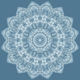 Ornamento floral do círculo. ilustração stock