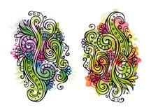 Ornamento floral do conto de fadas do vetor da fantasia Ilustração Stock