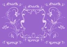 Ornamento floral do lilac abstrato Foto de Stock Royalty Free