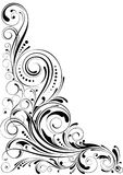 Ornamento floral do redemoinho Fotografia de Stock