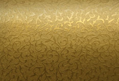 Ornamento floral dourado Fotografia de Stock Royalty Free