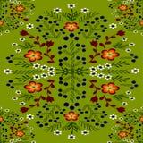 ornamento floral em uma luz - cor verde ilustração do vetor