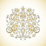 Ornamento floral en estilo oriental Fotos de archivo libres de regalías