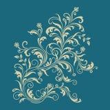 Ornamento floral en fondo de la turquesa Imagenes de archivo