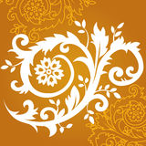 Ornamento floral en oro Ilustración del Vector