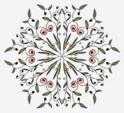 Ornamento floral en un círculo Imagen de archivo libre de regalías
