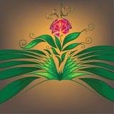 Ornamento floral en un fondo del oro Foto de archivo libre de regalías