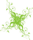Ornamento floral en verde Imagenes de archivo
