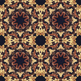 Ornamento floral inconsútil, corteza en tela Imagen de archivo libre de regalías