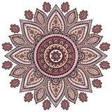 Ornamento floral indiano bonito Fotografia de Stock Royalty Free