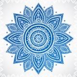 Ornamento floral indiano do vintage bonito ilustração royalty free