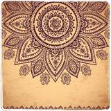 Ornamento floral indio hermoso Foto de archivo libre de regalías