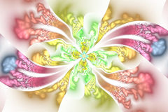 Ornamento floral intrincado abstrato no fundo branco Imagem de Stock